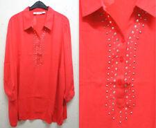 Maglie e camicie da donna a manica lunga in poliestere con colletto classico