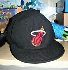 New Era 59Fifty Miami Heat Brown Orange NBA HWC Fitted Hat Cap 7 7/8 HARDWOOD