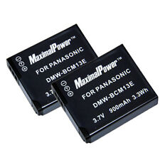 BATTERY x 2 for PANASONIC LUMIX DMW-BCM13E DMC-ZS30 DMC-TS5 Camera TWO BATTERIES