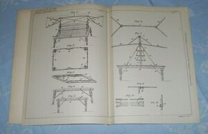 IMPROVED COMBINED PICNIC FOLDING TABLE AND CANOPY PATENT SCOTT LONDON 1900