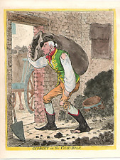 """JAMES GILLRAY """" GEORGEY IN THE COAL-HOLE """""""