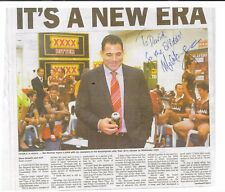 MAL MENINGA ~  AUSTRALIAN RUGBY LEAGUE LEGEND ~ HAND SIGNED NEWSPAPER  ARTICLE