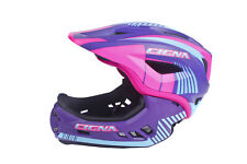 CIGNA TT32 Kids Cycling Bike Helmet 2 in 1 Full-Face Detachable Purple S-size