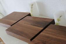 3x Wandboard Nussbaum Massiv Holz Board Regal Steckboard Regalbrett NEU auf Maß