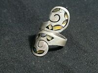 VINTAGE HANDMADE STERLING SILVER 925 TAXCO SIGNED RING ORIGINAL MADE IN MEXICO