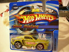 Hot Wheels 1968 Mustang #128 Green El Segundo Shaker Short Card