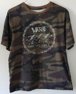 YOUTH VANS OFF THE WALL CAMOUFLAGE T-SHIRT XL KIDS SKATEBOARDING
