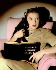 "JUDY GARLAND HALLOWEEN HOLLYWOOD ACTRESS SINGER 8x10"" HAND COLOR TINTED PHOTO"