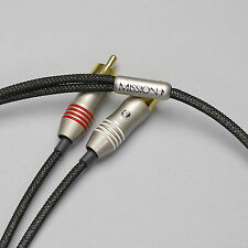 Zu Audio MISSION RCA 5 ft [1.5m] hi-fi 2-channel stereo interconnect cable