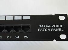 "Cat3 RJ45/RJ11 Telephone Patch Panel 25 Ports 1U x 19"" Cat-3 Tuff Jacks Quality"