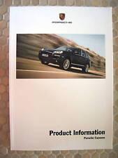 PORSCHE CAYENNE V6 S & TURBO TECHNICAL PRODUCT INFORMATION MANUAL BROCHURE 2008+
