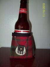 MacNaughton Tartan Plaid Beer Bottle Koozie Kilt With Sporran Christmas Gift