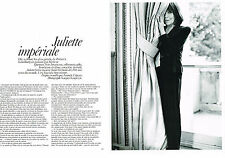 PUBLICITE ADVERTISING   2010   JULIETTE GRECO   IMPERIALE  ( 4  PAGES)