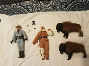"""Vintage 9"""" Lone Ranger And Tonto Action Figures"""