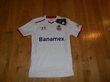 NWT UNDER AMOUR Deportivo TOLUCA FUTBOL CLUB SOCCER JERSEY KIT MENS SMALL MEXICO