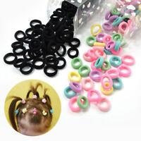 100Pcs Hair Band Girl Fabric Ring Ponytail Elastic Small Hair Ties Kids Women