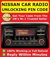 Nissan Radio Pin Unlocking Code Decode Daewoo Qashqai Almera Juke Connect Unlock