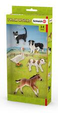 Schleich 42386 Assorted Farm World Animals (Farm Life) inc x5 Plastic Figures
