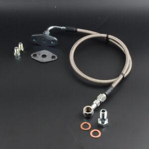 Turbo Oil Feed Line Kit For MAZDA RX-7 FC3S W/ Stock HITACHI HT18S 70cm