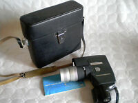 Vintage Canon Reflex Zoom 8-3 clockwork movie camera and case 8mm