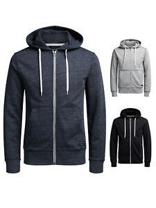 Jack & Jones Herren Jacke Sweater Hoodie mit Kapuze S M L XL XXL NEU Unifarben