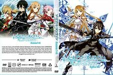 Sword Art Online ENGLISH DUBBED Complete Season 1 & 2 DVD Box Set - BRAND NEW