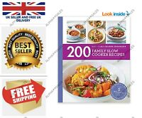 200 Family Slow Cooker Recipes by Sara Lewis New Paperback Book UK FAST&FREE