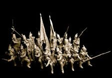 75mm diorama 21 x resin kits 52nd Oxfordshire Light Infantry Waterloo.Carl Reid