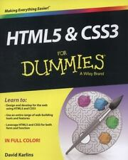 HTML5 and CSS3 For Dummies 9781118588635 by Karlins, David