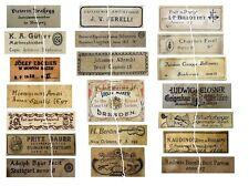 V104 Old Violin Fiddle Maker Labels Antique Copies Reproduction Set of 20