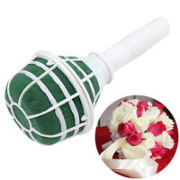 1-6 Pcs Bridal For Wedding Bride Bouquet Holder Decor Floral Foam Flower K6R1