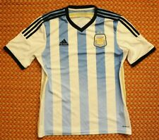 2014 - 2015 Argentina, Home short sleeve football Shirt by Adidas, Mens Large