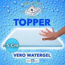 TOP TOPPER IN WATERGEL SINGOLO h5 cm con Fodera fresca sensazione MIGLIOR PREZZ0