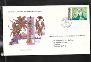 SEYCHELLES - FIRST DAY OF ISSUE COVER - STAMPS FROM ALL COUNTRIES 1978