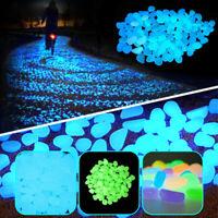 50-300x Luminous Pebbles Rock Stones Glow in the Dark Fish Tank Aquarium Outdoor