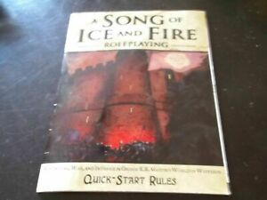 x1 A Song of Fire And Ice RPG Quick Start Rules Game of Thrones TexasNerdGames