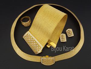 Trabzon Set 925 Silber echt vergoldet Gümüs 22 Ayar Altin Kaplama Taki Gold Set.