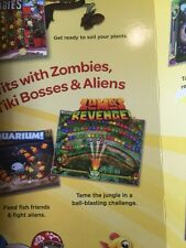 Zuma's Revenge +Plants vs Zombies +Bejeweled 3 10 Full PopCap PC Gams New in Box