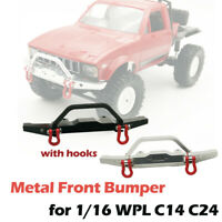 Upgrade Metal Front Bumper Guard Spare Parts for WPL 1/16 C14 C24 RC Truck Car