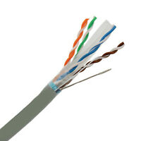 CAT6E Shielded CMR 550MHz Ethernet Cable STP Gray 1000FT - PURE COPPER - NOT CCA