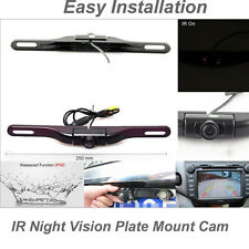 Car License Plate Mount Wireless Rear View Reverse Backup Camera Night Vision IR