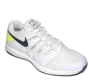 Nike Air Zoom Vapor X Mens Tennis Shoes 8 White Black Volt AA8030-107