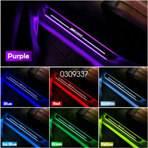 4Pcs Wireless Multiple Color LED Welcome Pedal Mirror Finish Front Rear Car Door