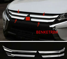 FOR Mitsubishi Eclipse Cross 2018 2019 Chrome Front Grill Grille Trims 4PCS ABS