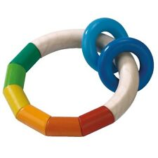 Hochet en bois anneau sonore multicolore - Haba 1121