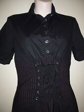 Lip Service Gangster black/red stripes dress size M