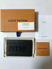 F/S Louis Vuitton × supreme Card Case Pass ID Business Card Holder from Japan