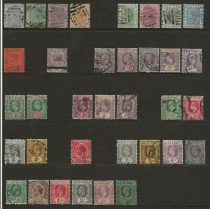 GOLD COAST  SELECTION OF USED 1876/1924 BETWEEN SG 5 & SG 95   GOOD/FINE