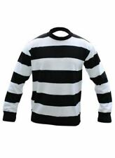 Kids Boys Red Striped Jumper Fancy Dress Nightmare Scary Halloween Party Outfit