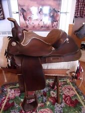 15'' Billy Royal Silver Buck stitched Equitation Western Saddle FQHBARS